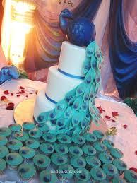 Peacock Inspired Wedding Cakes Weddingbee