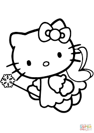 Hello Kitty Fairy Coloring Page