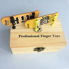 100 Fingerboard Trucks Professional Finger Skateboards With Box Maple Wooden Deck Alloy