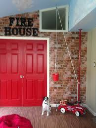 Bright Red (fire House) Pocket Doors Separate The Sitting Room. The ... Kidkraft Firetruck Step Stoolfiretruck N Store Cute Fire How To Build A Truck Bunk Bed Home Design Garden Art Fire Truck Wall Art Latest Wall Ideas Framed Monster Bed Rykers Room Pinterest Boys Bedroom Foxy Image Of Themed Baby Nursery Room Headboard 105 Awesome Explore Rails For Toddlers 2 Itructions Cozy Coupe 77 Kids Set Nickyholendercom Brhtkidsroomdesignwithdfiretruckbed Dweefcom Carters 4 Piece Toddler Bedding Reviews Wayfair New Fniture Sets