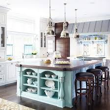 Kitchen With Nautical Design Elements Rustic Beach Inspired