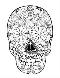 Rose Coloring Pages Printable Free Amy For Adults Book Page Skull And Day Dead Images Dark