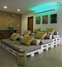 Build Stadium Style Home Theater Seating on the Cheap with Shipping Pallets