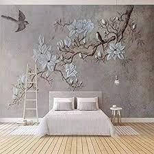 fototapete 3d effekt geprägte zweig magnolien elster tapete