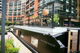 100 Boathouse Architecture Rustic Floating Hotel Suite Graces Londons Grand Union Canal
