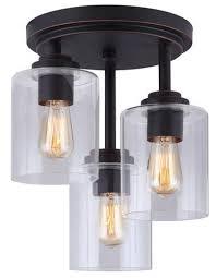 impressive 3 bulb flush mount ceiling light fixture ceiling