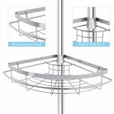 Floor To Ceiling Tension Rod Shelves by Lifewit 4 Tier Adjustable Tension Corner Pole Caddy Bathroom