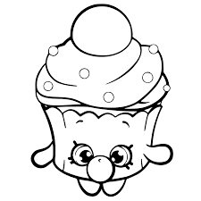 Bubble Cupcake Shopkins Coloring Page