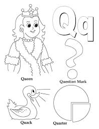 Learning Preschool Kids Letter Q Coloring Page