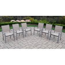 Stacking Steel Sling Patio Chair by Patio Dining Chairs You U0027ll Love Wayfair