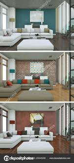 100 Modern Loft Interior Design Three Color Variations Of A Modern Loft Interior Design