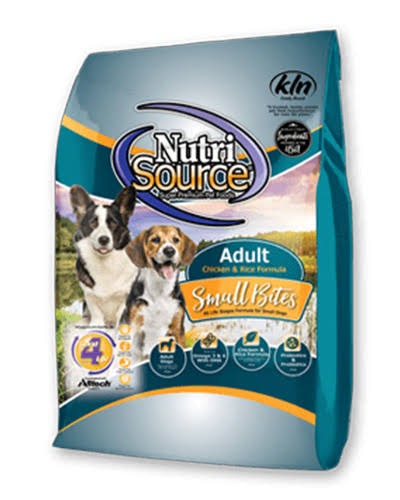 NutriSource 15 lbs Small Bites Chicken & Rice Recipe Dry Dog Food