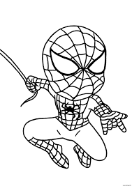 √ The Amazing Spiderman Ready To Shoot His Webs Coloring