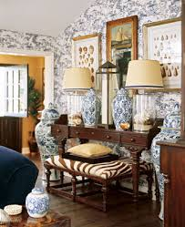 British Colonial Style Is Sustained In The Living Room With A Mahogany Console Table Barclay Designed Glass Lamps To Allow Change Of Contents