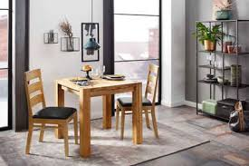 home affaire essgruppe nils 1 set 3 tlg tisch 80 x 80 2 stühle polstersitz aus massivholz