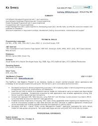 Experienced Software Engineer Resume Sample For Dot Net Developer Experience 4 Years Thumbnail