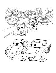 Lightning Mcqueen Coloring Pages And Sally