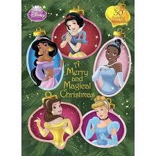 A Merry And Magical Christmas Disney Princess Glitter Sticker Book
