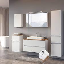 badezimmer komplett set pesaro 03 in matt weiß mit absetzungen in wota