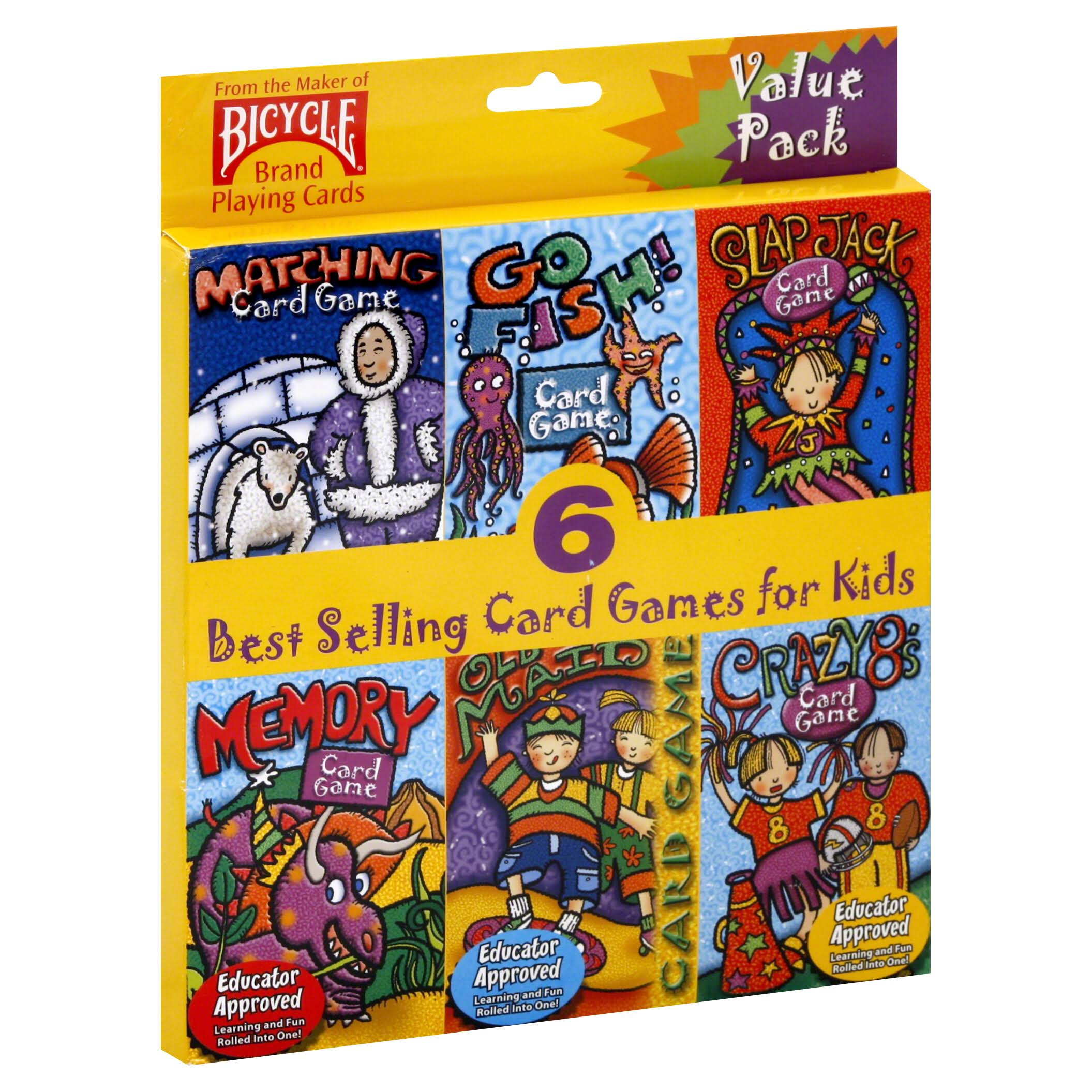 Bicycle Kids Card Games - 6 Games