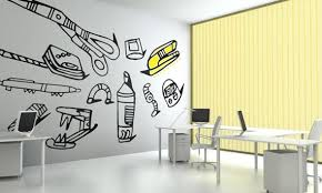 Mural Home Office Painting Idea