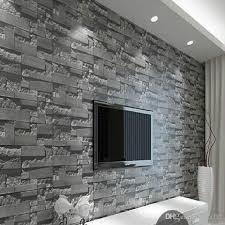 großhandel moderne 3d dreidimensionale design tapete rolle stein ziegel hintergrund wand vinyl wand papier wohnzimmer wandverkleidung w025