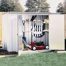 arrow steel garden shed with accessories 8x3 walmart com
