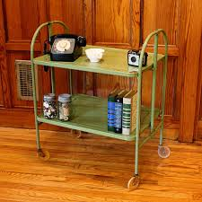Vintage cart serving cart metal cart patio cart bar cart