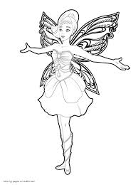 Barbie Fairy Coloring Pages Mariposa And The Princess For Girls To Download