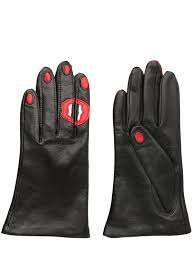 aristide kiss nappa leather gloves in black lyst