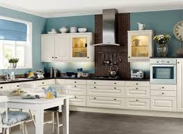 Inimitable Country Kitchen Colors For Cabinets Of White Color Paint Finish With Black Pearl Granite Countertops
