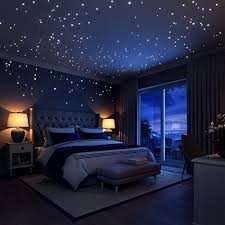 Glow In The Dark Stars Wall Stickers252 Adhesive Dots And Moon For Starry Sky Perfect Kids Bedding Room Or Birthday Gift Beautiful Decals By