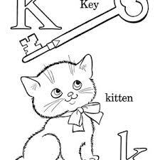 Letter K Words Coloring Page
