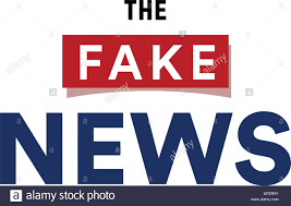 The Fake News Show False Breaking Broadcast Minimalistic Text Logo Vector Illustration On White Background
