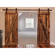 Amazon.com: WINSOON Double 12FT Barn Wood Door Hardware American ... Barn Door Kits For Bathrooms Btcainfo Examples Doors Designs Design Farmhouse Sliding Barnwood Kit Winsoon Hdware Wood Interior Diy Double Tutorial H20bungalow Bathroom Best Decoration Bedroom Closet Good Glass 24 Best Porte Coulissante Fait Maison Images On Pinterest The Home Depot Exterior Latest Stair