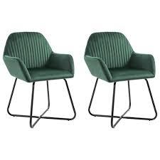 esszimmerstühle küchenstuhl 2er set grün samt