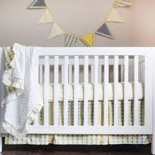buy yellow and grey crib bedding from bed bath beyond