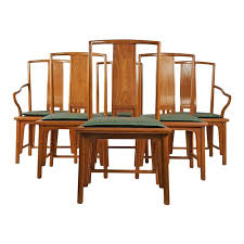 Set Of Six Silver Label Baker Furniture Chinese Style Ming Dining Chairs For Sale