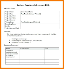 Business Document Documents Templates Sample Requirements Free Analyst
