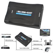 kebidumei 1080P HDMI to SCART Video Audio Upscale Converter AV
