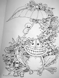 Doodle Invasion Coloring Book Free Fun Books Doodles