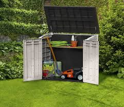 Rubbermaid Slide Lid Shed Manual by Amazon Com Keter Store It Out Midi 4 3 X 2 5 Outdoor Resin