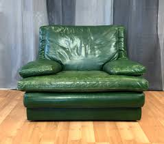 100 Roche Bois Furniture Vintage Bobois Green Leather Lounge Chair SOLD Past