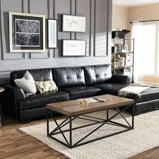 Buchannan Faux Leather Sectional Sofa buchannan faux leather sectional sofa with reversible chaise black
