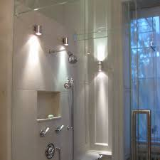 lighting ideas wall lights for bathroom shower with brushed
