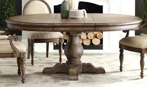 Large Rustic Round Dining Table Oak And 6 Chairs