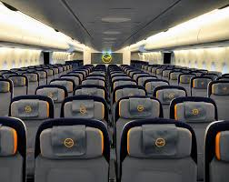 The brand new Lufthansa Airbus A380 Economy Class cabin