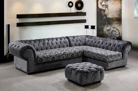3 Pcs Modern Fabric Sofa Set with Tufted Acrylic Crystals
