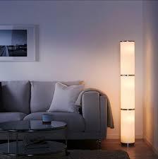 ikea vidja standing floor l and 6 bulbs white