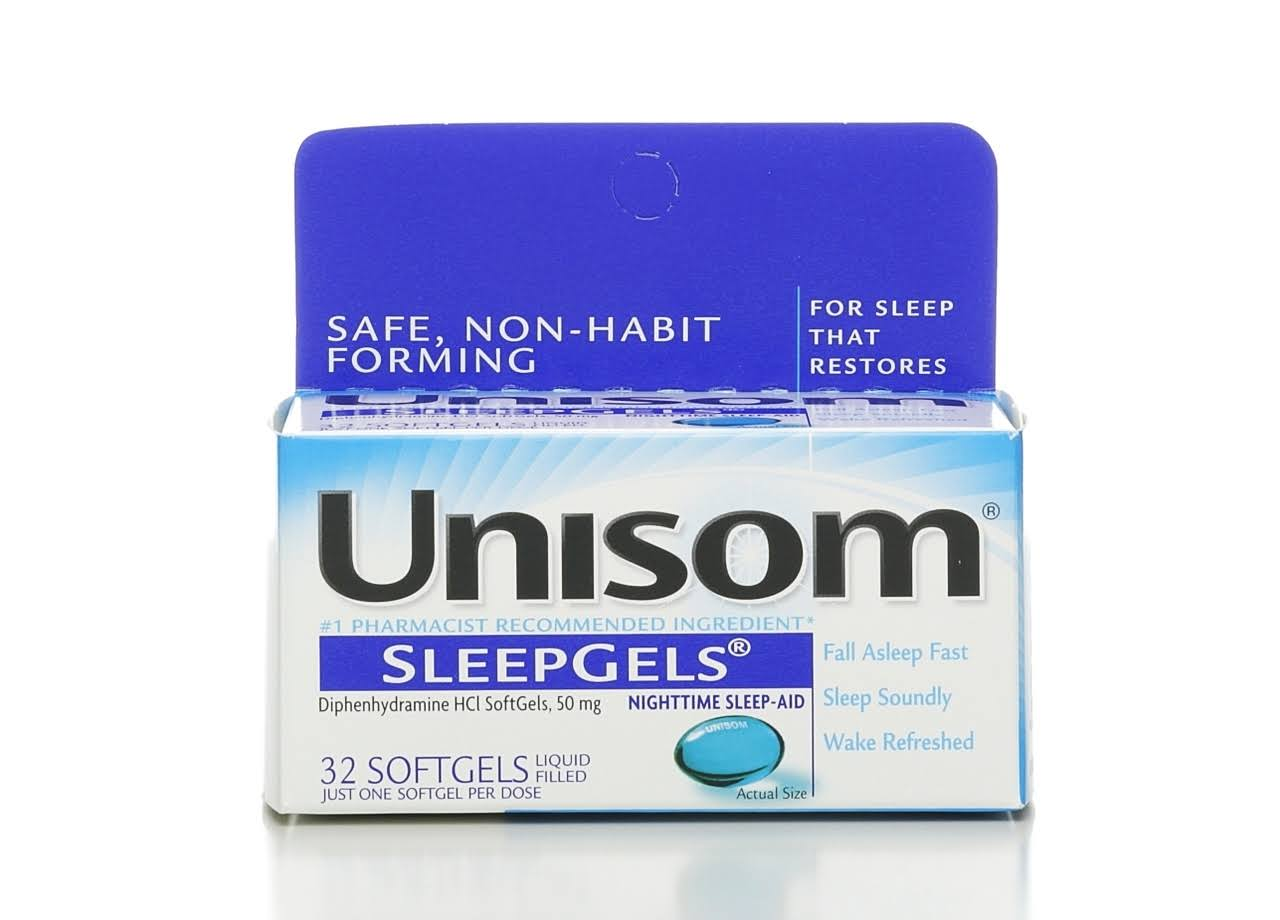 Unisom SleepGels Nighttime Sleep-Aid SoftGels - 50mg, x32